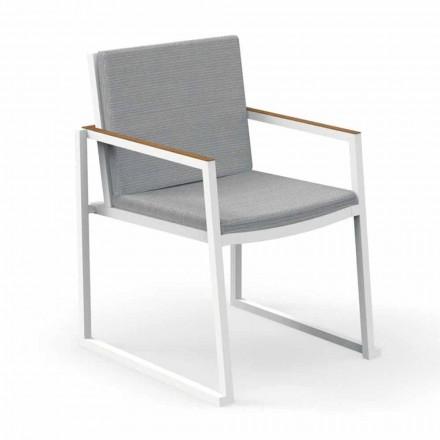 Trädgårdsstol med armstöd i aluminium och tyg - Alabama Alu av Talenti