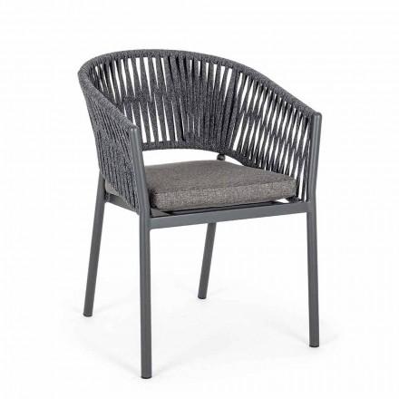Stapelbar utomhusstol med tygstol, Homemotion 4 stycken - Aleandro