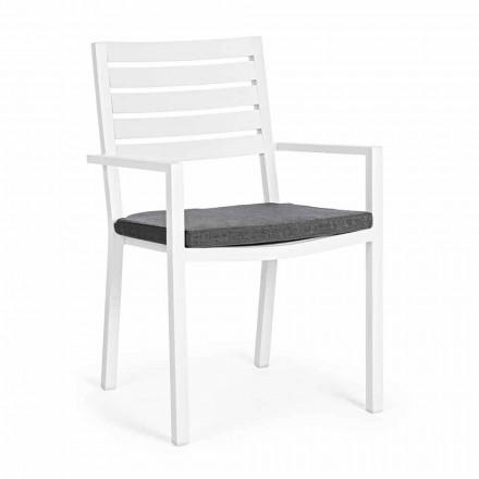 Homemotion stapelbar aluminiumstol utomhus, 4 delar - Carina