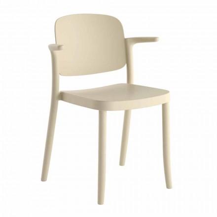 Stapelbar utomhusstol i polypropylen Tillverkad i Italien, 4 delar - Bertina