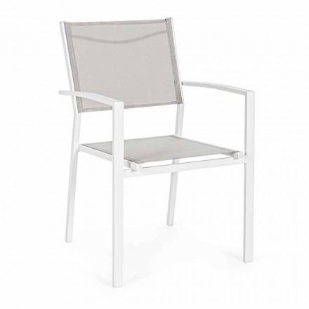 Stapelbar utomhusstol i Textilene Homemotion, 6 stycken - Narcissa