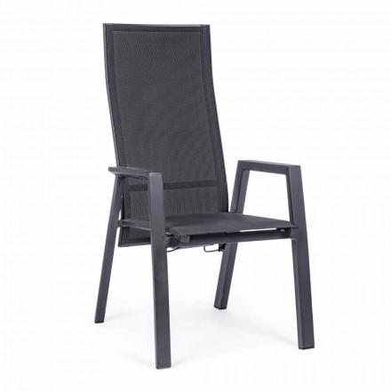 Liggande utomhusstol i textilin och aluminium, 4 delar - Lucia