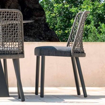 Varaschin Emma utomhus stol i tyg och aluminium design