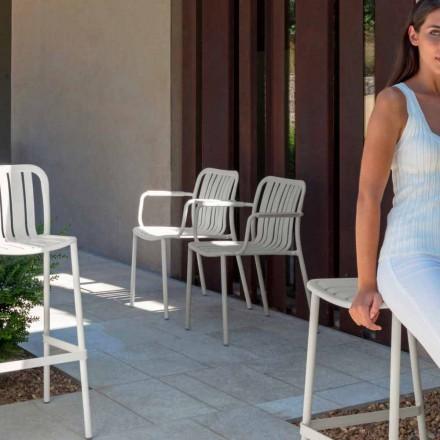 Trocadero trädgårdsstol med armstöd av Talenti, tillverkad i aluminium