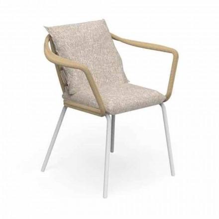 Trädgårdsstol för modern design i aluminium och tyg - Cruise Alu Talenti
