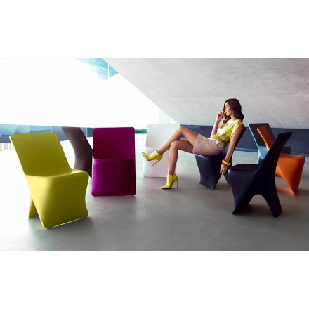 Trädgårdsstol Sloo av Vondom, modern design i polyeten