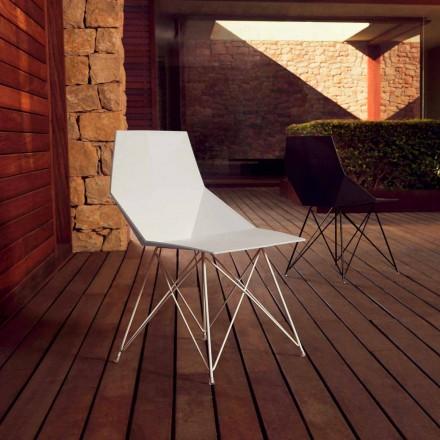 Moderna stol Faz-samling Vondom, polypropen och rostfritt stål