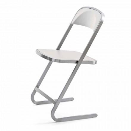 Stapelbar trädgårdsstol i modern design i stål tillverkad i Italien - Boston