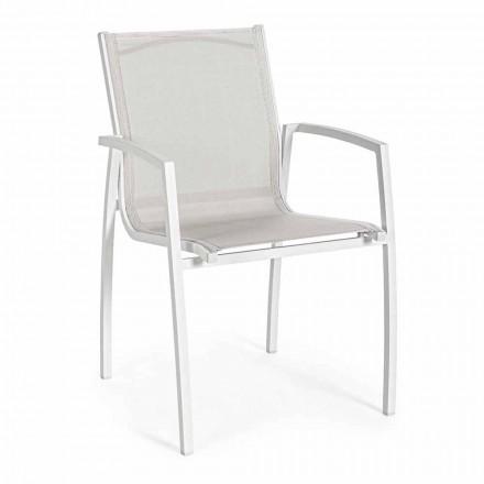 Stapelbar trädgårdsstol i Textilene Homemotion, 6 stycken - Cosima