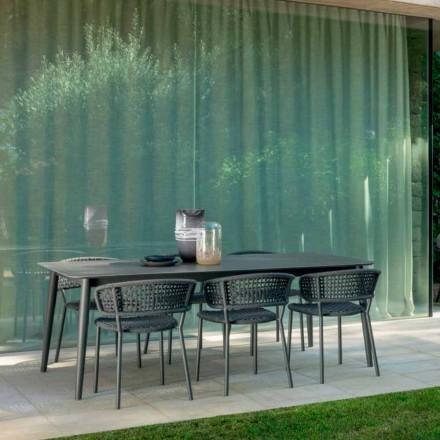 Moon Alu trädgårdsstol av Talenti, med aluminium och syntetisk sladd