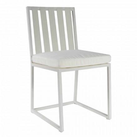 Uteserveringsstol i aluminium och lyxdesign Rope 3 finish - Julie
