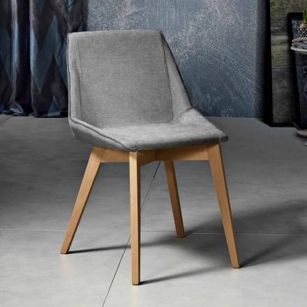 Modernt stol i tyg och trä för vardagsrum gjord i Italien, Oriella