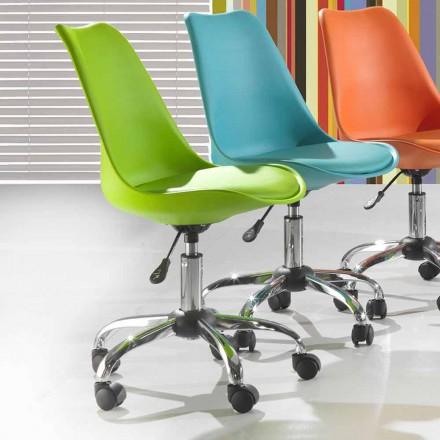 Kontorsstol i färgad polypropen och metall - Loredana