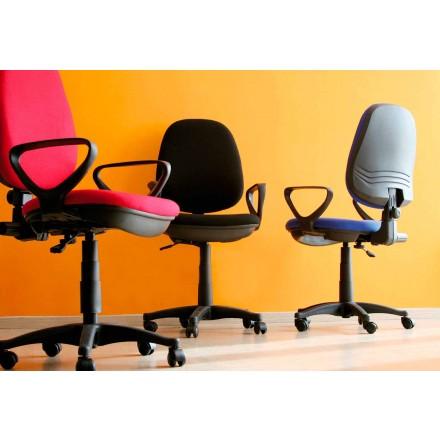 Ergonomisk roterande kontorsstol med armstöd i vävnad - Concetta