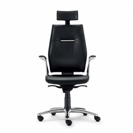 ergonomisk kontorsstol i kohud skinn typ Ines