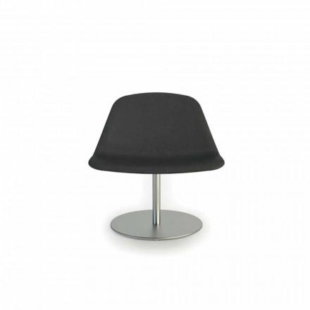 Modern kontorsstol med rund bas Llounge av Luxy, tillverkad i Italien