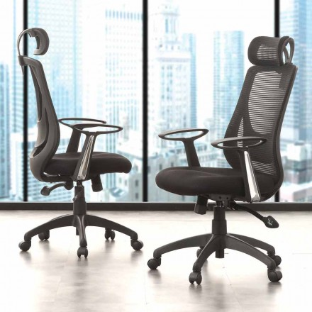 Directional and Operational Office Black Chair - Gerlanda