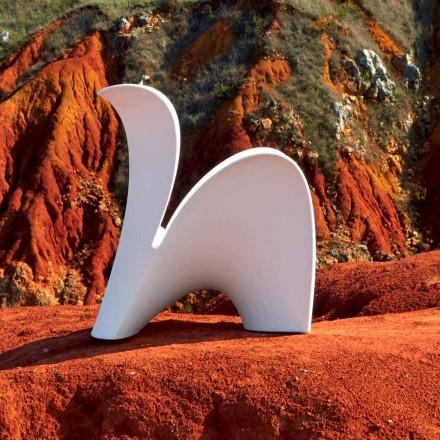 Designstol för inomhus eller utomhus i färgad plast 2 delar - Lily av Myyour