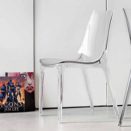 Modern designstol, helt i polykarbonat - Gilda