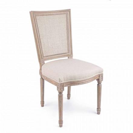 Klassisk designstol med trästruktur 2 delar Homemotion - Murea