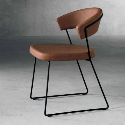 Designstol i metall och tyg tillverkat i Italien Formia