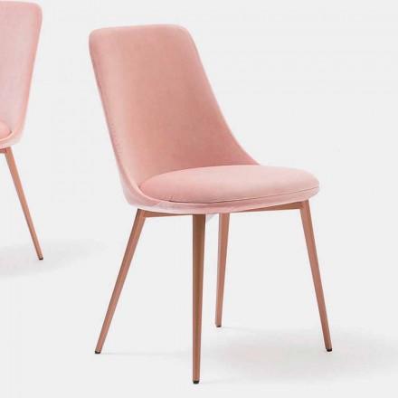 Designstol i tyg och metall tillverkad i Italien - Itala