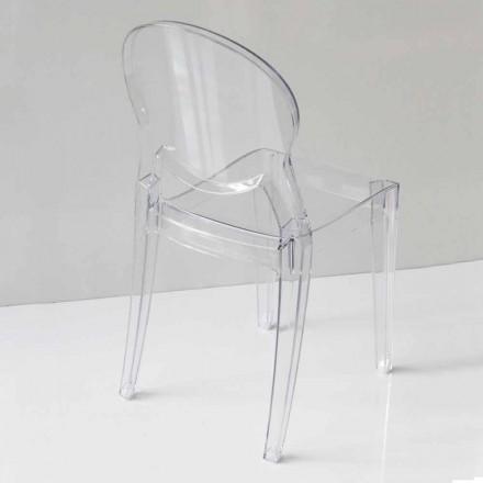Modern designstol i polykarbonat, i två färger - Dalila
