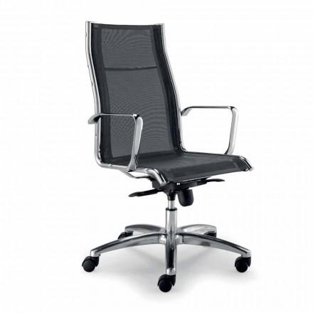 Design verkställande stol producerad i Italien i Agata-nätverket