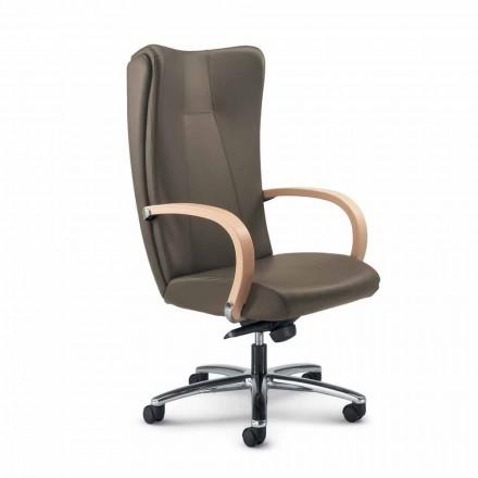 Executive stol äkta kohud modern Ambra typ blomma