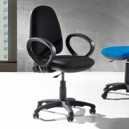 Modern roterande kontor ergonomisk stol i miljöläder eller vävnad - Calogera