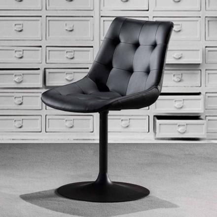 Svängbar stol, miljölädersits med tuftad bearbetning - Aura
