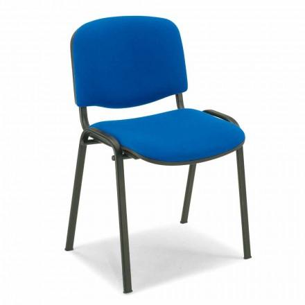 Stoppad stol för ett väntrum med Black Metal Base - Carmela