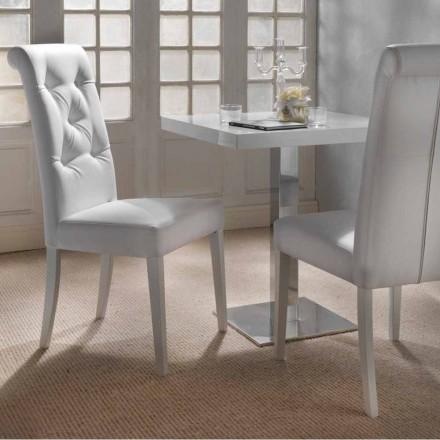 Design stoppad stol med tuftat arbete - Diana