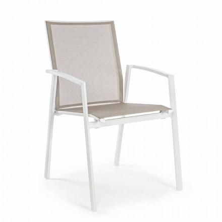 Stapelbar utomhusstol målad aluminium, Homemotion, 4 stycken - Odelia