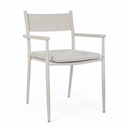 Stapelbar utomhusstol i tyg och aluminium, Homemotion, 4 stycken - Imani