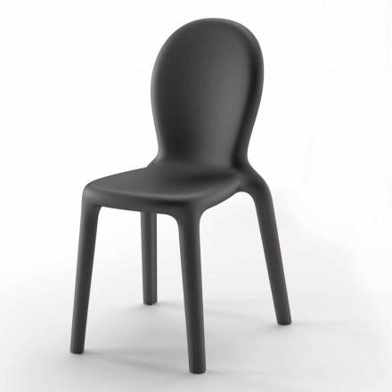 Stapelbar stol i färgad polyeten Tillverkad i Italien, 2 delar - Jamala