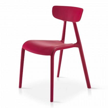 Stapelbar vardagsrumsstol i modern design i polypropen 4 delar - Mulan