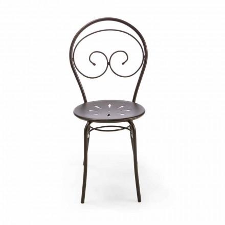 Stapelbar utomhusstol i metall tillverkad i Italien, 2 delar - myndighet