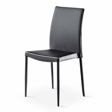 Stapelbar ekoläderstol med modern design i 4 delar - Vaiana