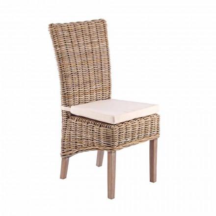 Trädgårdstol med designkudde för utomhus - Taffi