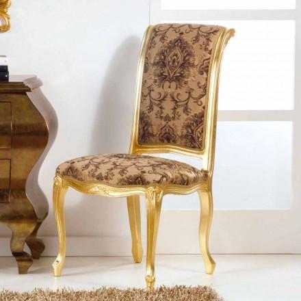 Trästol med klassisk stil med bladguld ben Bellini