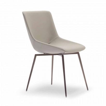 Modern matstol med läder tillverkad i Italien - Bonaldo Artika