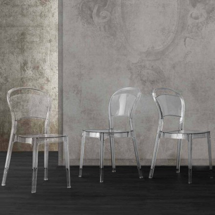 Transparent polykarbonatstol med modern Ferrara-design