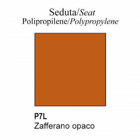 Återvunnen polypropylenstol med svängbar bas tillverkad i Italien - Connubia Tuka