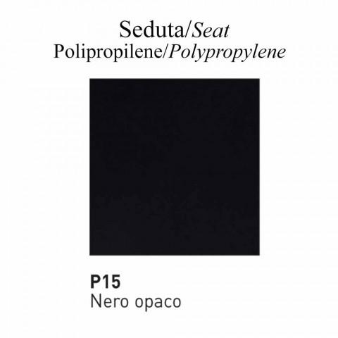 Återvunnen polypropylenstol tillverkad i Italien 2 delar - Connubia Academy