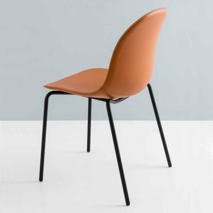 Connubia av Calligaris Academy modernt stol i metall och läder, 2 stycken