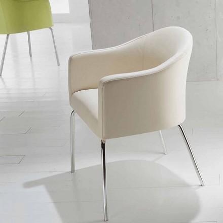 Modern stol i konstläder månen