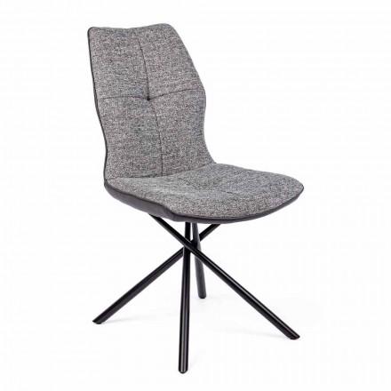 Modern stol täckt i polyester och konstläder 4 delar Homemotion - Plero