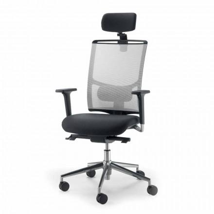 Operativ och semi-executive stol i tyg tillverkat i Italien Mina