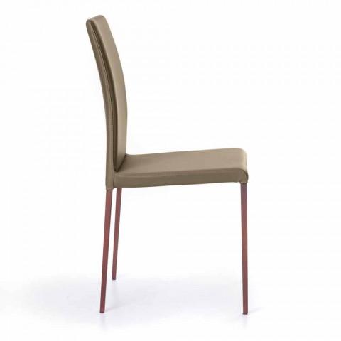 Abbie faux läder design matsal stol, gjord i Italien